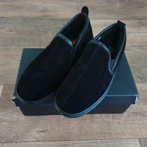 L.B. EVANS Klondike Black Slippers Mens Size 12